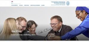 Neue Startseite der Hochschule in Vallendar