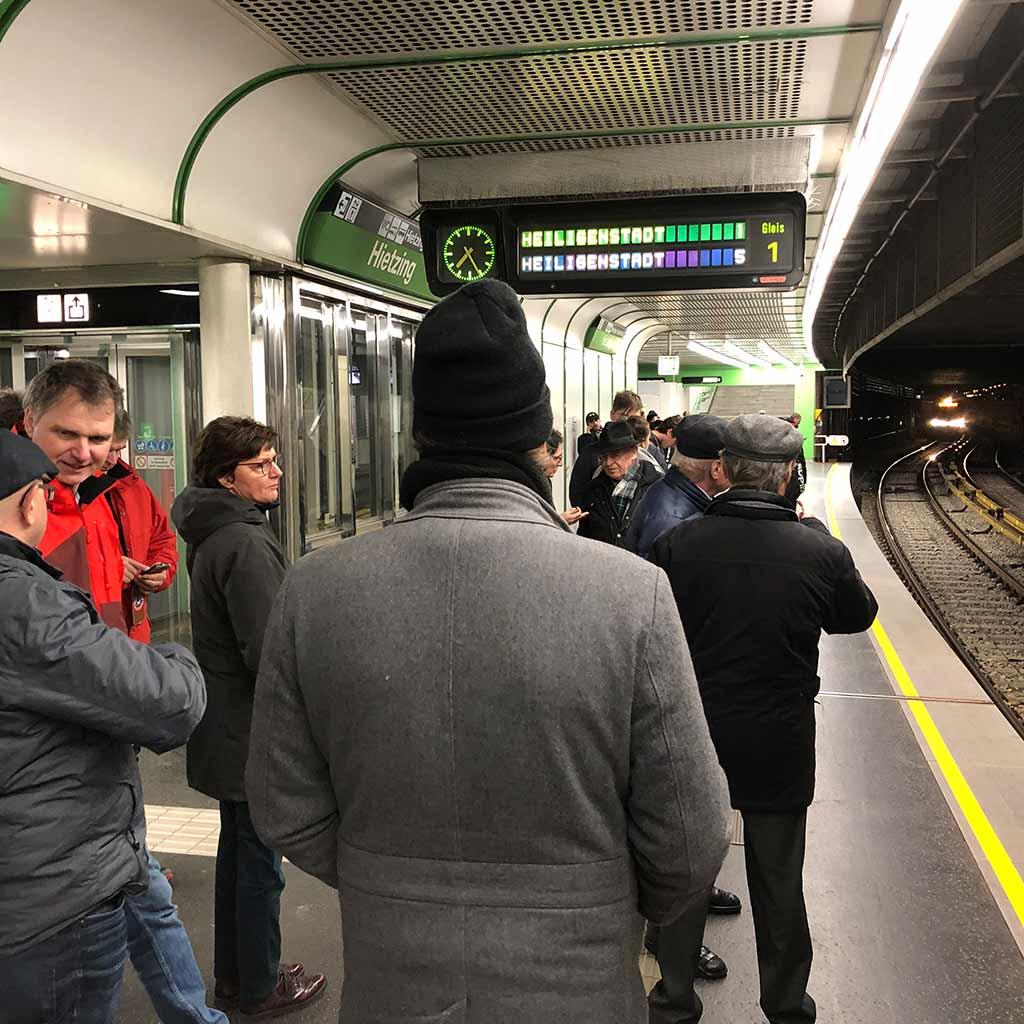 Mit der U-Bahn ins Zentrum von Wien