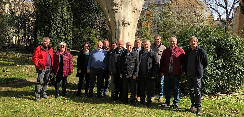 Gruppenbild vom Treffen der Gästehäuser 2019 in Wien