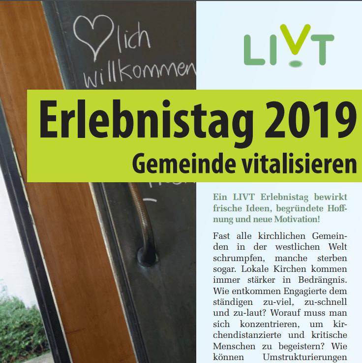 Erlebnistag LIVT - Einladung für Deutschland 2019