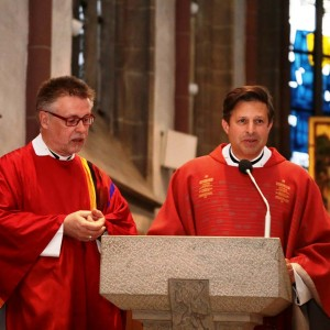 Pater Siegfried Modenbach und Pater Jürgen Heite SAC