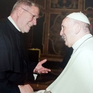 Pater Heinz Goldkuhle SAC bei Papst Franziskus in Rom
