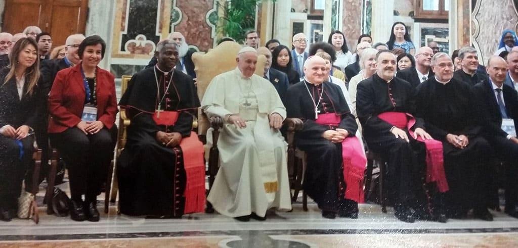 Privataudienz bei Papst Franziskus