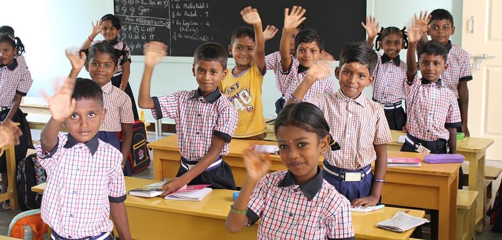 Grundschule im Pillar Center in Madurai, Indien