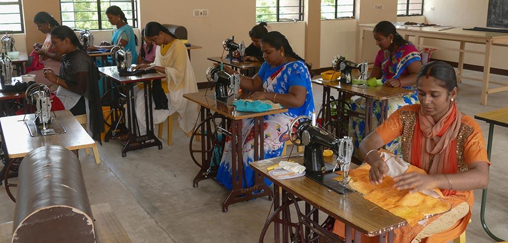 Nähschule im Pillar Center in Madurai