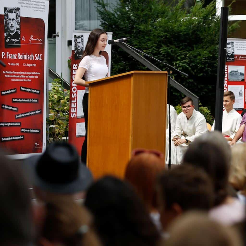 Ansprache der Schülerin Marie Krempel Gymnasium Bruchsal