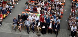 Feier zur Wegeinweihung im Gymnasium St. Paulusheim