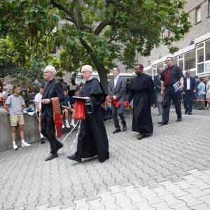Auf dem Weg zur Einweihung des Pater-Franz-Reinisch-Weges