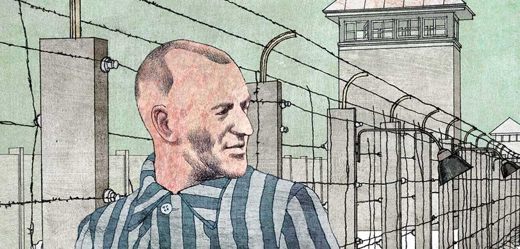 Richard Henkes im KZ in Dachau