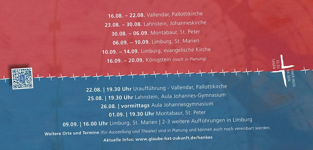 Richard Henkes Theaterstück und Ausstellung