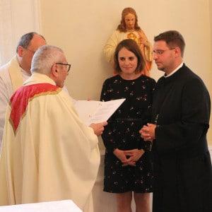 Frater Marcus Grabisch bei seiner dritten Profess