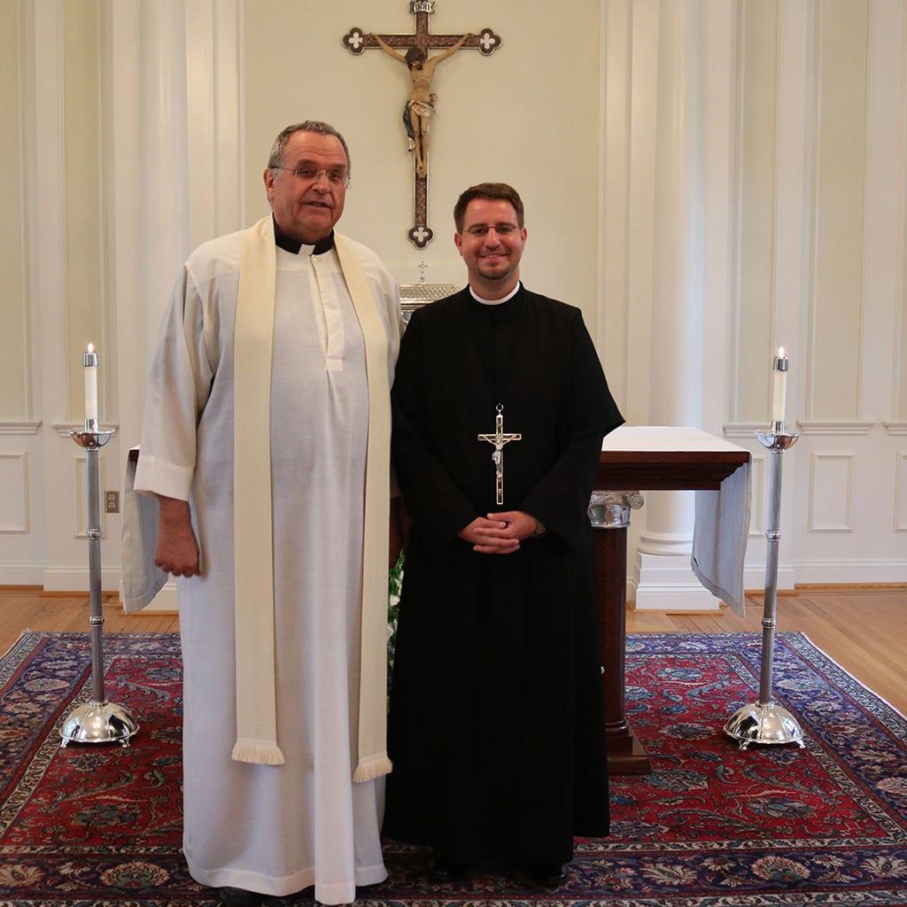 Pater Rolf Fuchs und Frater Marcus Grabisch