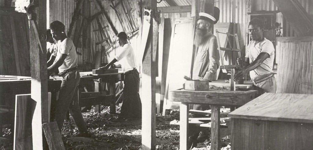 Historisches Foto der Pallottiner aus Kamerun