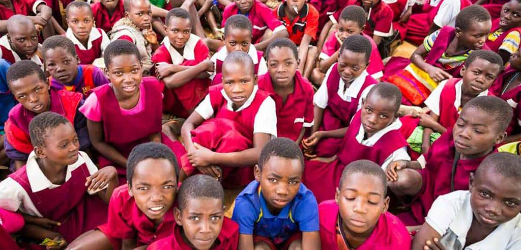 Kinder in der Pallottiner-Pfarrei in Kaphatika in Malawi