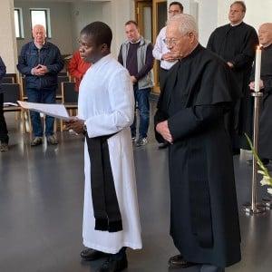Zweite Profess von Bruder Bruno aus Malawi