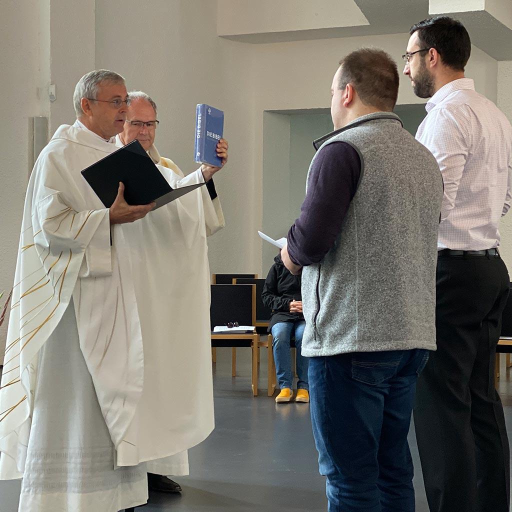 Aufnahme in das Noviziat der Pallottiner