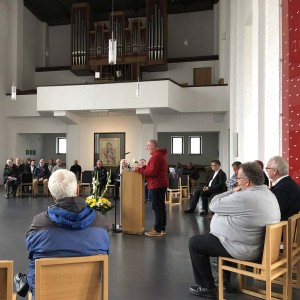 Lesung von Bruder Klaus Schneider SAC in der Pallotti-Kirche in Friedberg (Bayern)