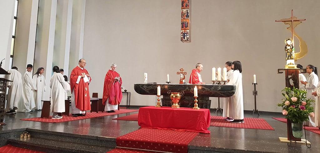 Gottesdienst der vietnamesischen Gemeindemitglieder