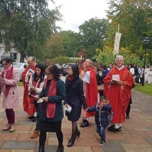 Abschlussmesse mit Prozession in Hamburg