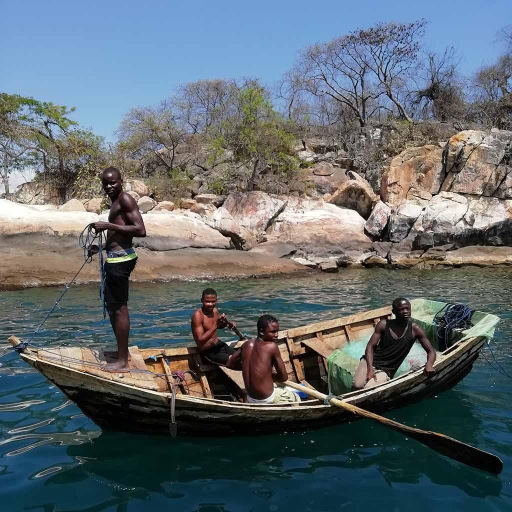 Fischer am Malawisee bei Mangochi
