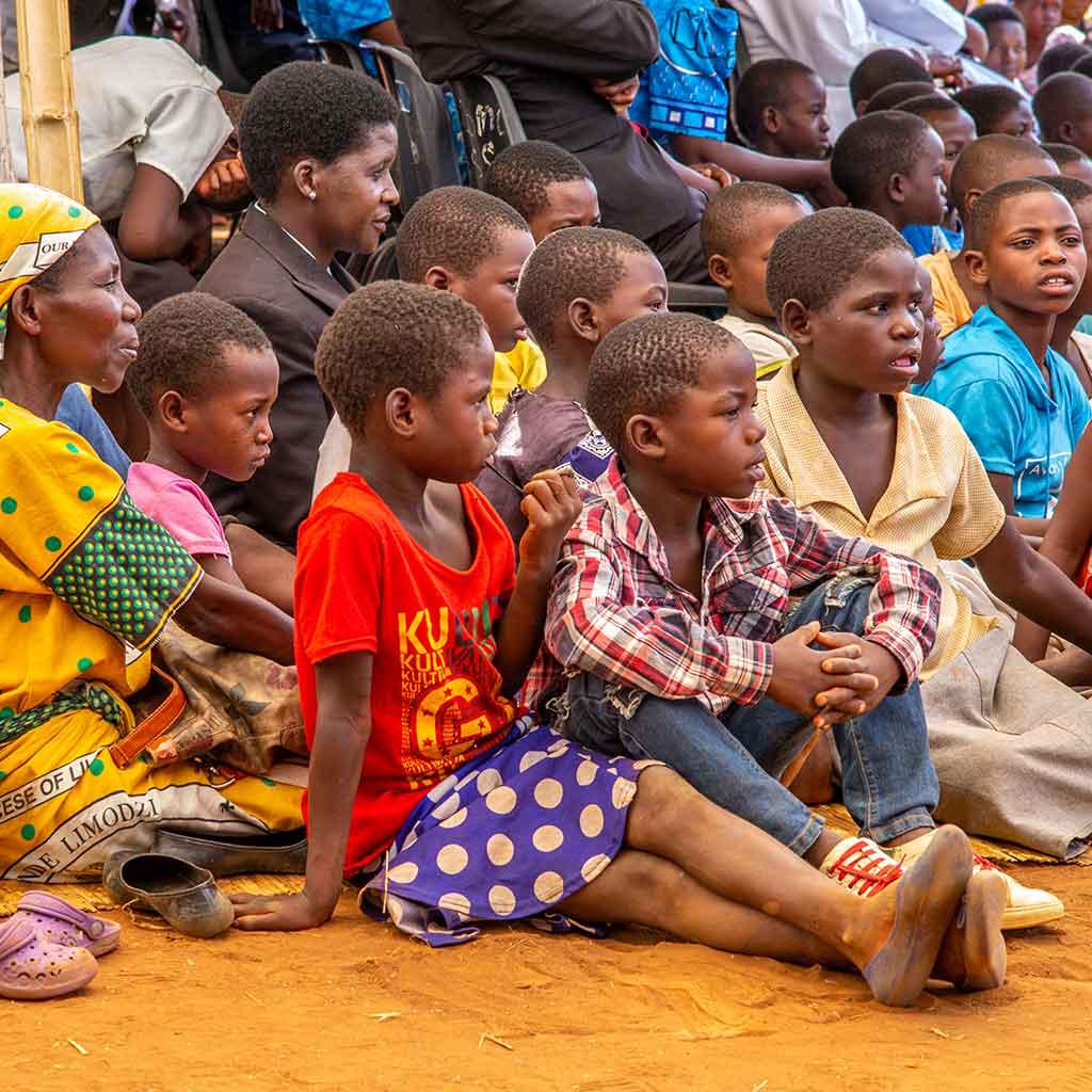 Gottesdienstbesucher in Malawi