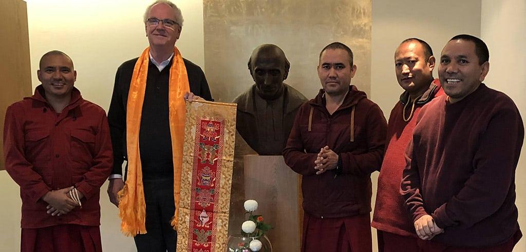 Tibetisch-buddhistische Mönche zu Gast in der Kommunität der Pallottiner