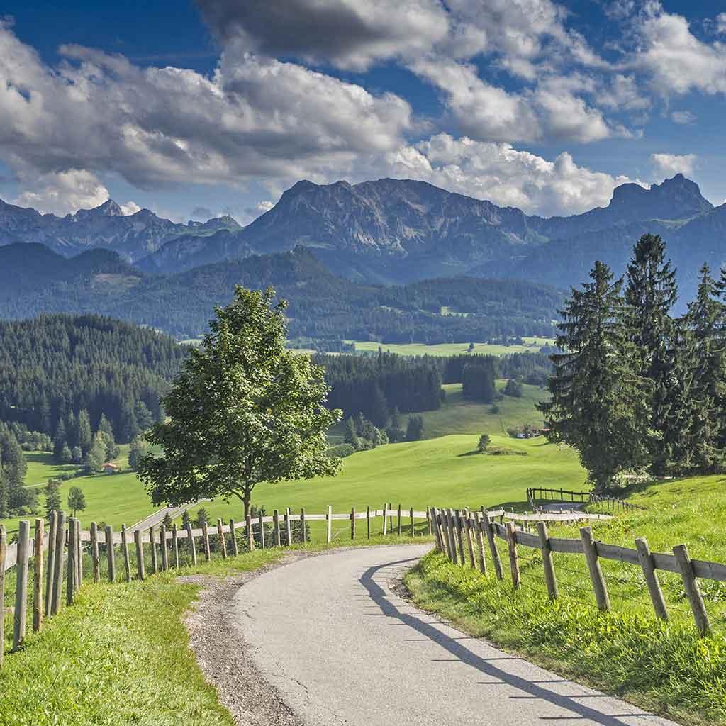 Das Allgäu im Süden Deutschlands