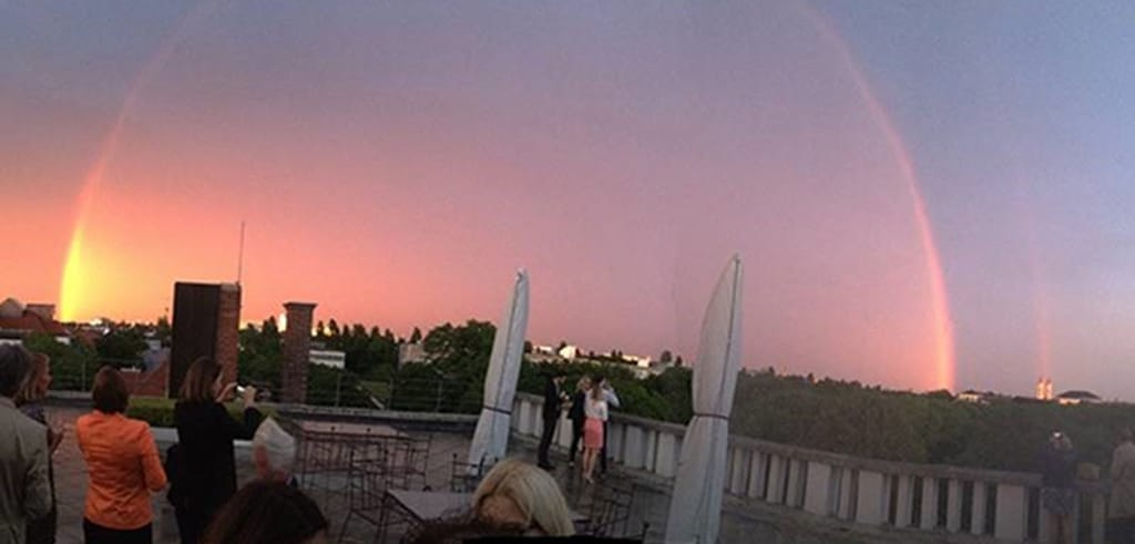 Regenbogen über München
