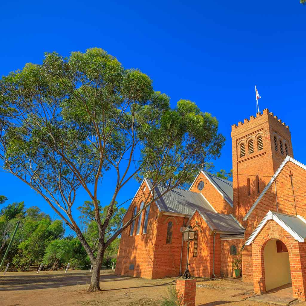 Church of the Holy Trinity in York bei Perth in Westaustralien