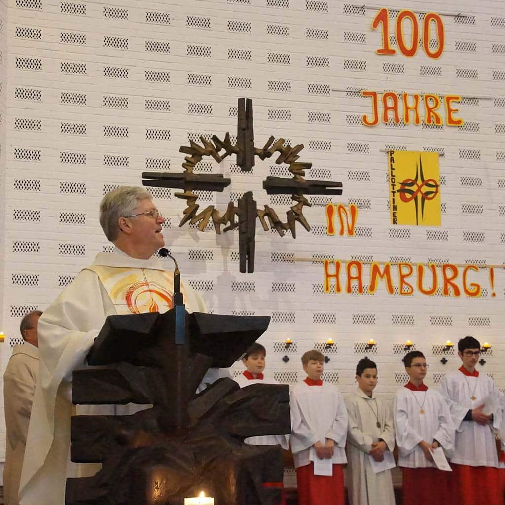 Pater Winkens beim Pallottifest in Hamburg 2020
