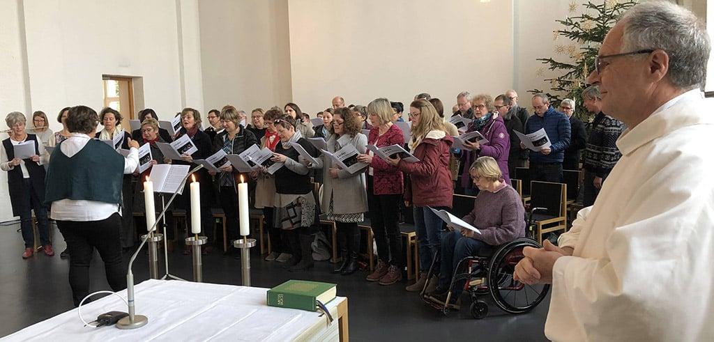 Die Jakobsingers beim Pallottifest in der Friedberger Pallottikirche