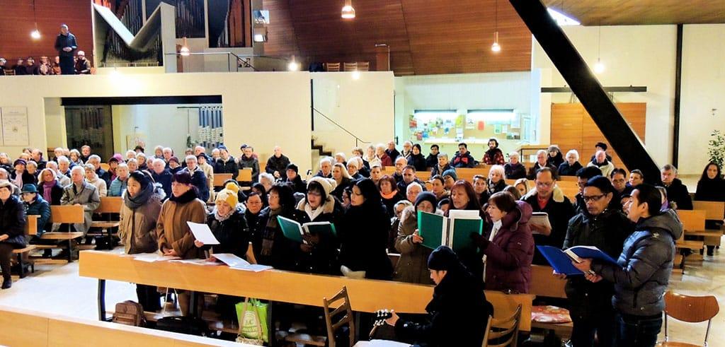 Messe zum Gedenken an Vinzenz Pallotti in Salzburg Lehen