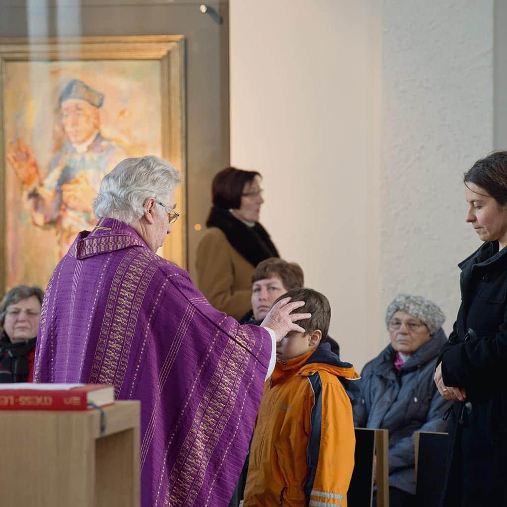 Gottesdienst in der Pallottikirche in Friedberg