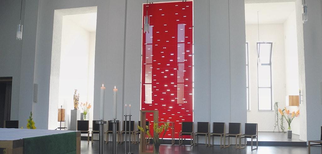 Meer der Liebe - das Pfingstbild in der Pallotti-Kirche in Friedberg