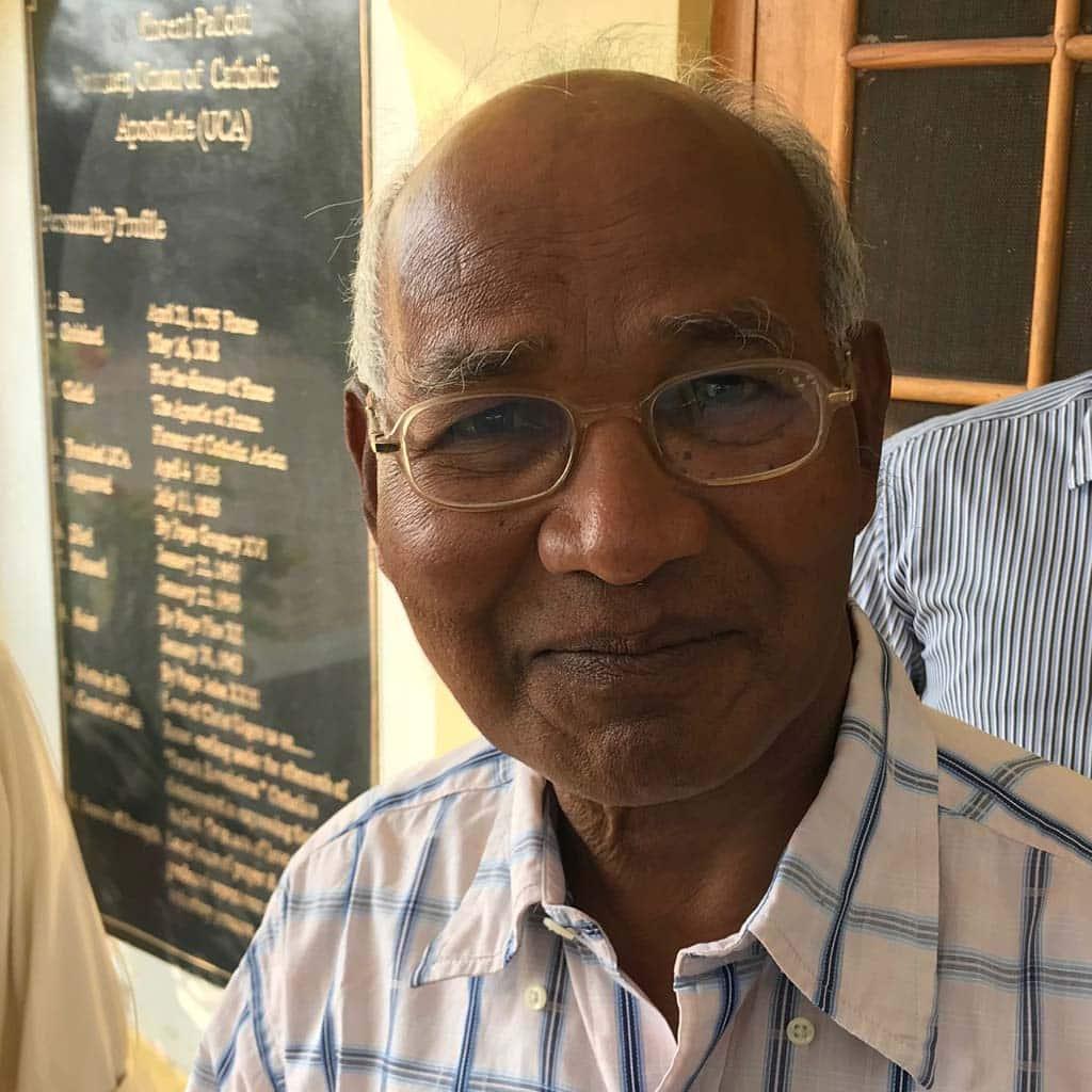 Pater Charles Tirkey SAC im März 2018 in Bilaspur Indien