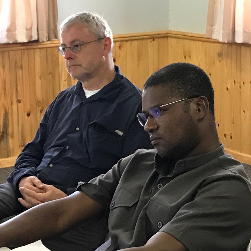 Provinzial Pater Helmut Scharler beim Treffen in Südafrika 2020