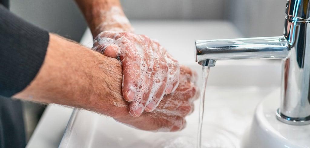 Wasche die Hände - Empfehlungen aufgrund des Coronavirus