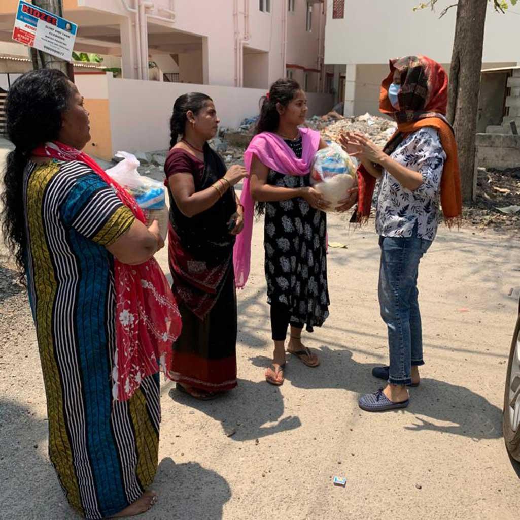 Corona-Hilfe der Pallottiner in Indien