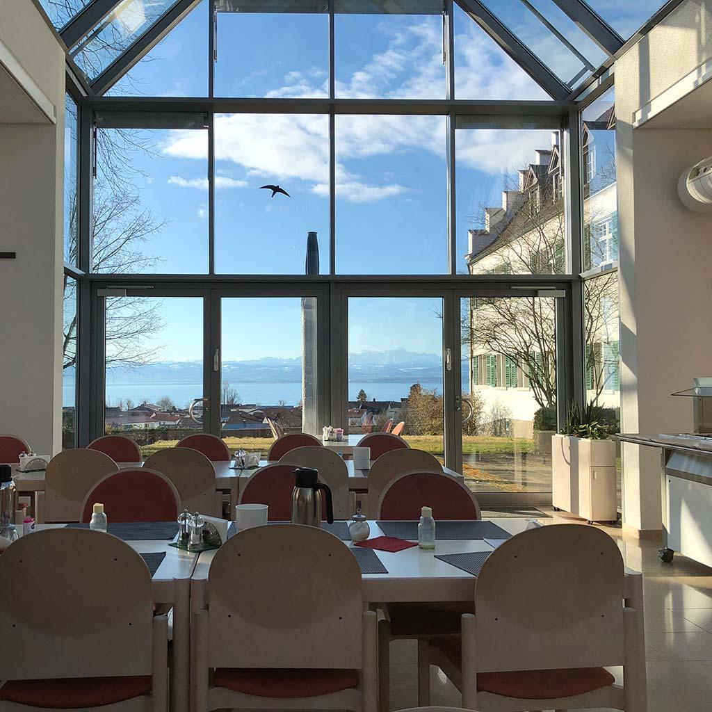 Blick auf den Bodensee Pallottiner Gästehaus in Immenstaad