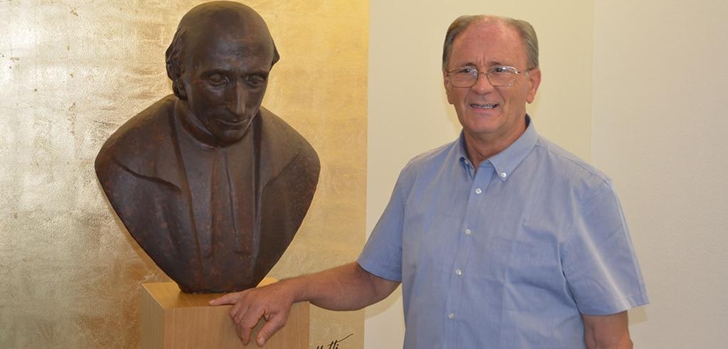 Pater Peter Hillen SAC im Provinzialat der Pallottiner im bayerischen Friedberg