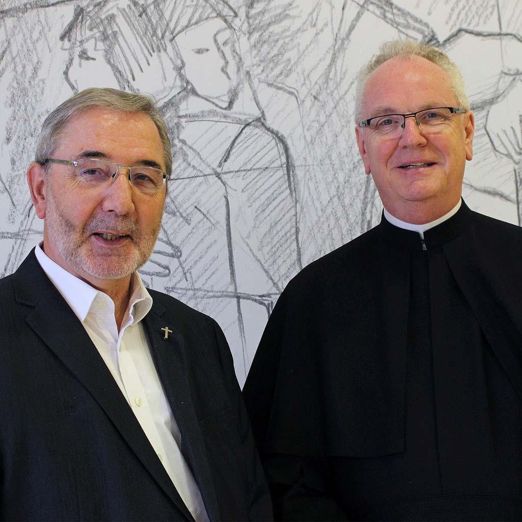 Pater Leo Wiszniewsky übergibt die Leitung an Pater Holzbach