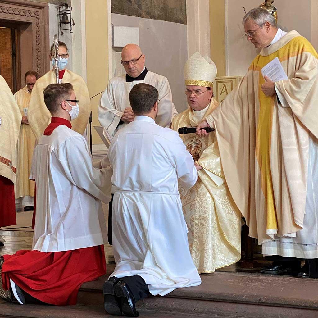 Diakonweihe von Frater Marcus Grabisch SAC in Friedberg 2020