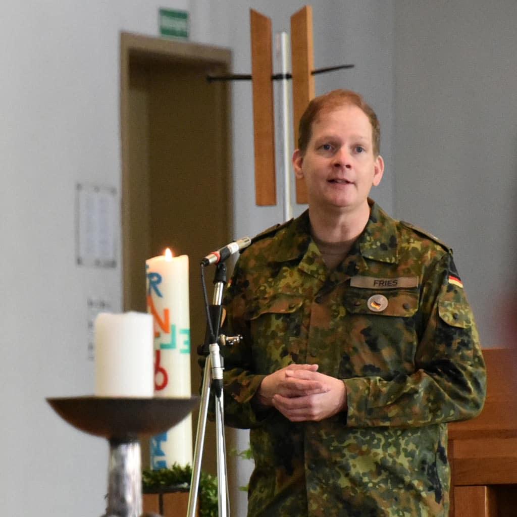 Militärseelsorger Pater Roman Fries SAC
