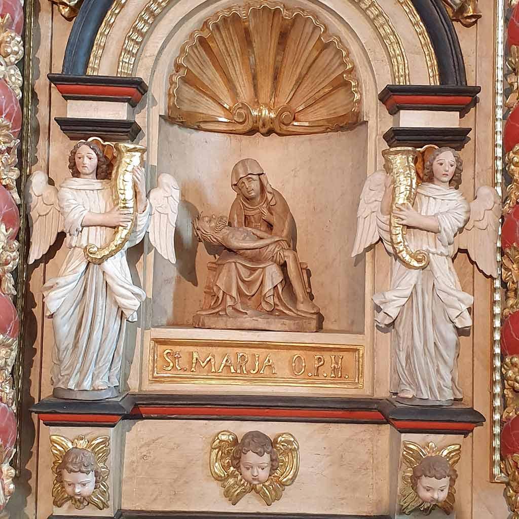 Pietà in der Wallfahrtskirche Mariä Heimsuchung auf dem Kohlhagen