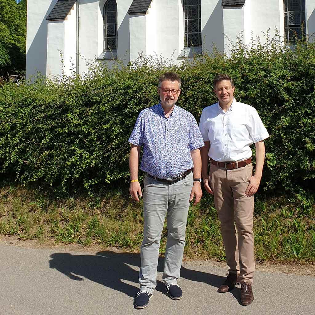 Pater Siegfried Modenbach und Pater Jürgen Heite sind Pallottiner