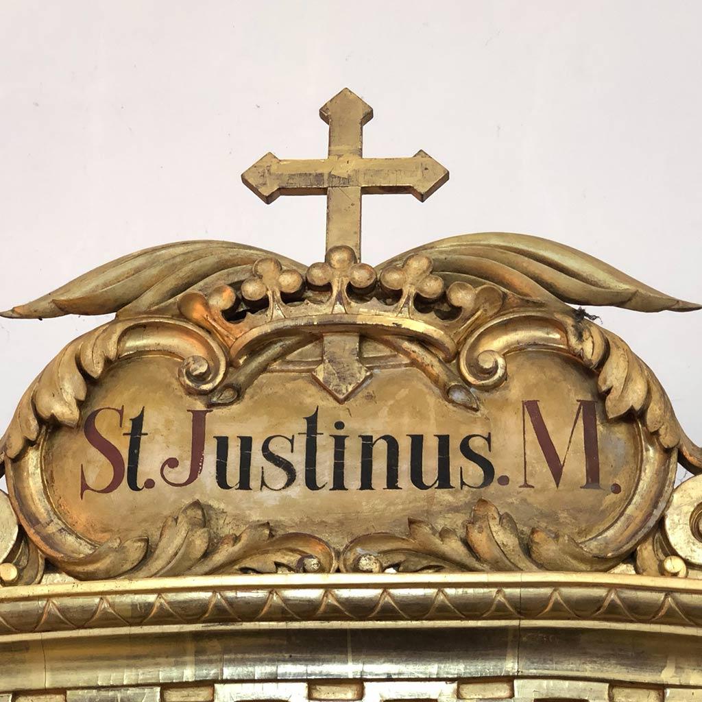 St. Justinus Schrein mit seinen Gebeinen in Friedberg