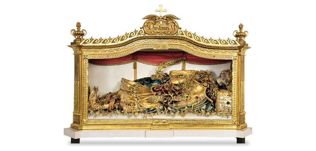 Schrein des Heiligen Justinus befindet sich in Bayern.